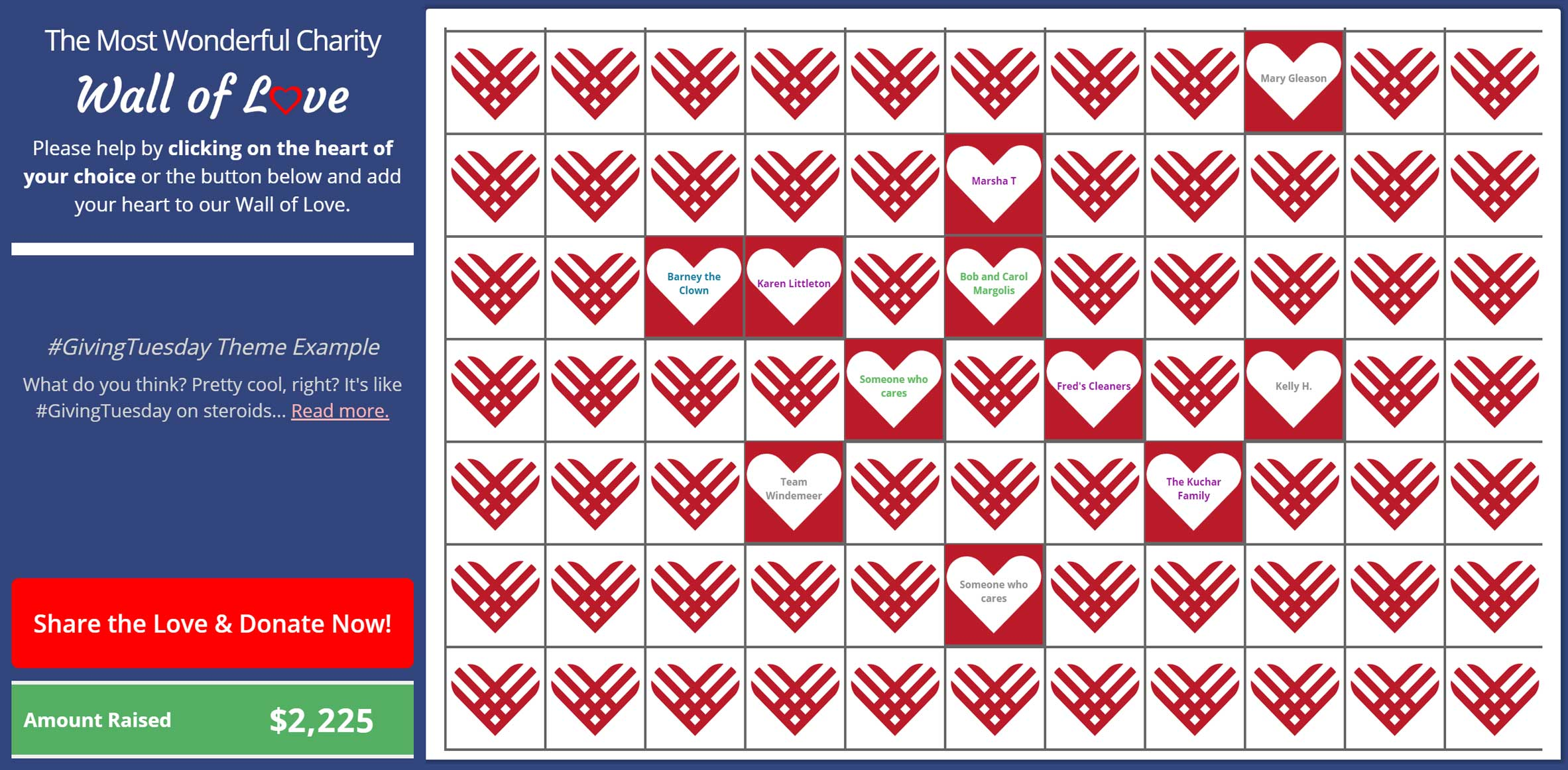 Wall of Love #GivingTuesday