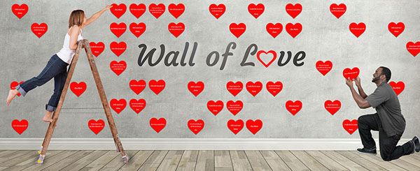Wall of Love GivingGrid Example